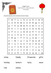 english worksheets chinese new year word search. Black Bedroom Furniture Sets. Home Design Ideas