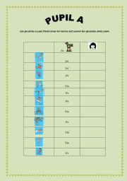 English Worksheet: talents