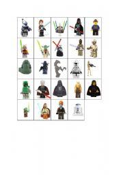 English Worksheet: Star Wars Guess Who