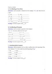 English Worksheets: for dyslexic students