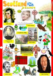 English Worksheet: Scotland poster