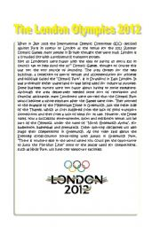 English Worksheet: The London Olympics 2012