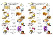 English Worksheet: Matchmaking American breakfast