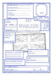 English Worksheets: BOOK COVER and PERSONNEL DATA