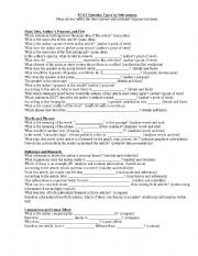 English worksheet: question stems for fcat
