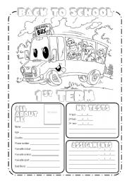 photograph about Back to School Printable Worksheets named Again toward college or university - ESL worksheet as a result of VeraM
