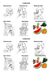 Worksheet Healthy Habits Worksheets healthy habits worksheet by ashley english habits
