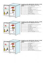 English Worksheets: HOW MUCH / HOW MANY refrigerator COUNTABLE / UNCOUNTABLE Quantifiers