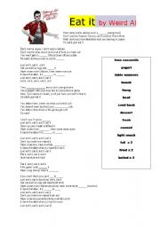 English Worksheets: Listening activity for food vocabulary- Eat it!