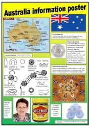 English Worksheet: Australia poster
