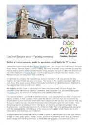 English Worksheet: London Olympics 1212 Opening Ceremony
