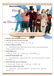 English Worksheet: Charlie & the Chocolate Factory