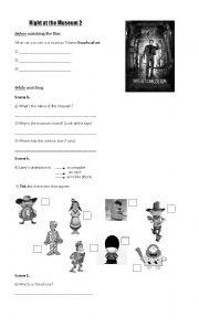 English Worksheet: Night at the museum 2