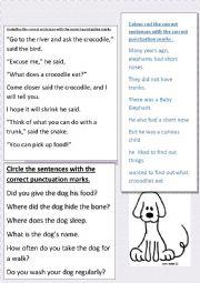 English Worksheet: punctuation marks