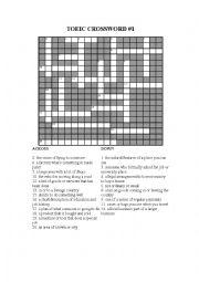 English Worksheet: TOEIC Crossword 1