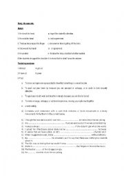 English Worksheet: Body Movement and Facial expressions