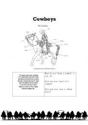 English worksheet: Cowboys