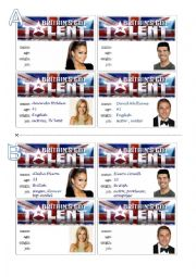 English Worksheet: Britain´s Got Talent. (2)