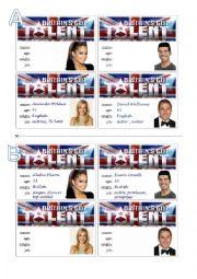 English Worksheet: Britain�s Got Talent. (2)