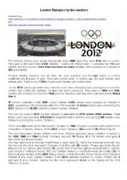 English Worksheet: London olympics by numbers