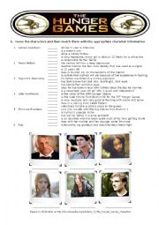 English Worksheet: The Hunger Games