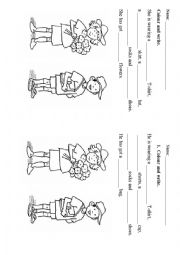 English Worksheet: Clothes for kids