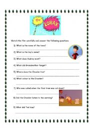 Worksheets The Lorax Worksheet Answers the lorax worksheet answers virallyapp printables worksheets movie intrepidpath english exercises worksheets