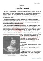 English Worksheet: Henry the VIII and his 6 wives. Chapter 1. Comprehensive Reading + tones of Practice to enlarge the vocabulary and Practice Grammar