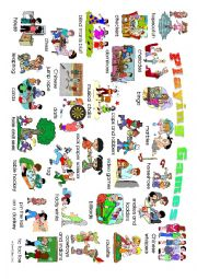 English Worksheet: Playing Games Posters: 2 high definition posters for display and use