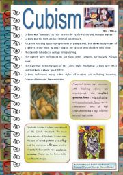 English Worksheet: Art Lessons (part 2)