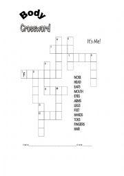 body crossword
