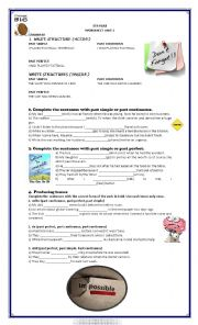 English Worksheet: new headway intermediate 4th edition unit 3