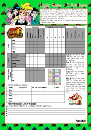 English Worksheet: Logic game (51st) - I live here *** with key ***  upper elementary *** fully editable *** greyscale