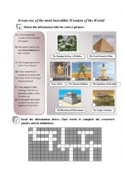 English Worksheet: Ancient wonders of the world