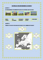 English Worksheet: monuments in europe