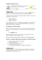 english worksheets transitive intransitive verbs. Black Bedroom Furniture Sets. Home Design Ideas