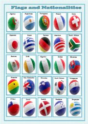 English Worksheet: flags and nationalities