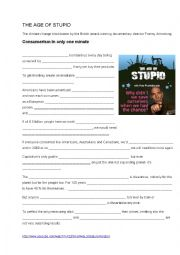 english worksheets the age of stupid film about ethical living. Black Bedroom Furniture Sets. Home Design Ideas