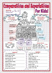 COMPARATIVES AND SUPERLATIVES FOR KIDS