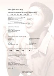 English Worksheet: Music Exercise for Stand By Me
