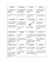 English Worksheet: False Friends Game