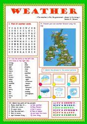 english worksheets the weather worksheets page 10. Black Bedroom Furniture Sets. Home Design Ideas