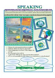 English Worksheet: Environmental issues discussion.
