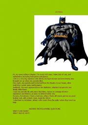 batman, reading comprehension.