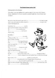 English Worksheet: the Olympic Games London 2012