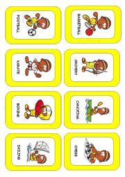 English Worksheet: Sports and games flash-card. (1/3)