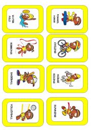English Worksheet: Sports and games flash-card. (3/3)