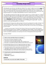 English worksheet: Fasting for the first time