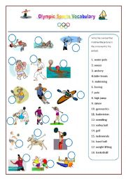 English Worksheet: Olympic Games Sports Vocabulary worksheet