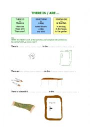 English Worksheet: THERE IS/ARE WORKSHEET